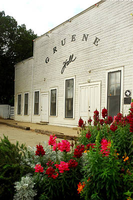 Gruene Hall With Flowers. Poster