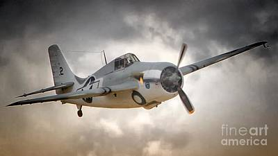 Grumman F4f Wildcat Dawn Patrol Poster