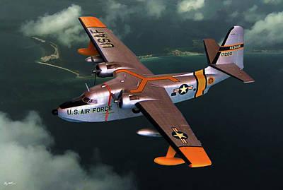 Grumman Hu-16 Albatross Poster by Tommy Anderson