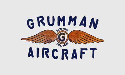 Grumman Wings Blue Poster