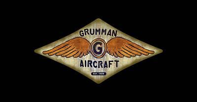 Grumman Wings Diamond Poster