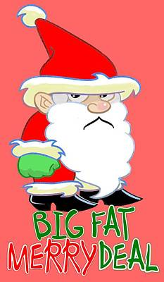 Grumpy Santa Poster