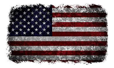 Grunge American Flag Poster