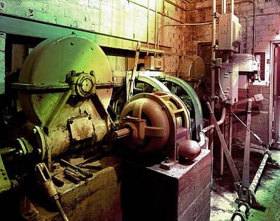 Poster featuring the photograph Grunge Hydroelectric Plant by Robert G Kernodle