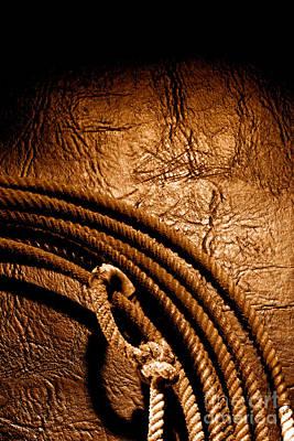 Grunge Lasso - Sepia Poster