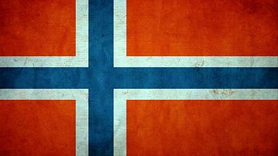 Grunge Norway Flag Poster by Dan Sproul