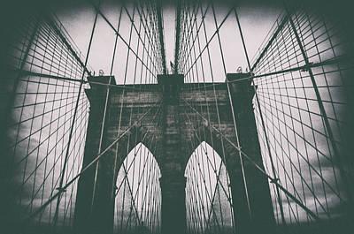 Grungey Brooklyn Bridge Poster
