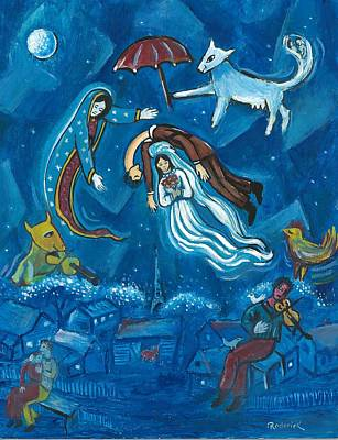 Guadalupe Visits Chagall Poster