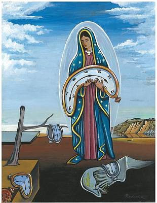 Guadalupe Visits Dali Poster by James Roderick