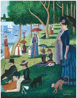 Guadalupe Visits Seuart Poster