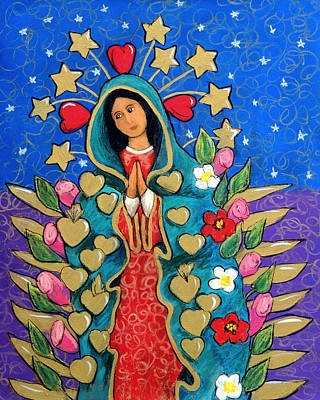 Guadalupe With Stars Poster