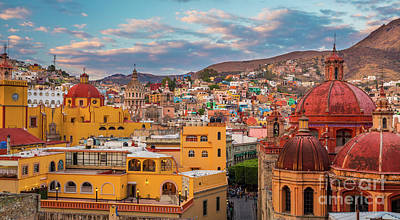 Guanajuato City Panorama Poster by Inge Johnsson