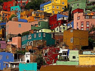 Guanajuato Hillside 4 Poster by Mexicolors Art Photography