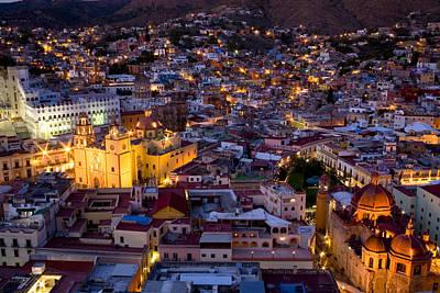 Guanajuato Lit Up At Night Poster