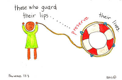 Guarded Lips Poster by Kristen Williams