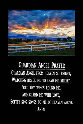 Guardian Angel Prayer Poster by James BO  Insogna