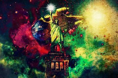 Guardians Of Freedom II Poster by Aurelio Zucco