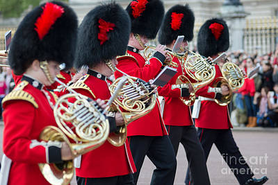 guards band at Buckingham palace Poster