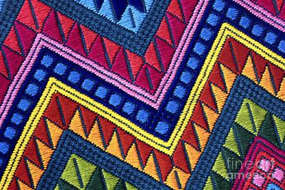 Guatemala Colorful Abstract Photograph - Guatemalan Diamonds  Poster