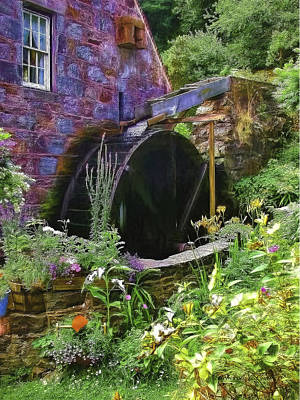 Guernsey Moulin Or Waterwheel Poster