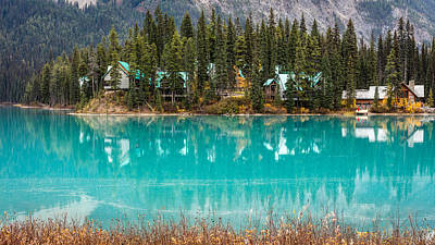 Poster featuring the photograph Emerald Lake by Pierre Leclerc Photography