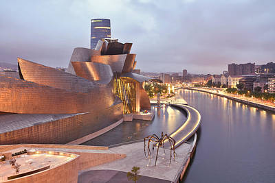 Poster featuring the photograph Guggenheim Museum Bilbao Spain by Marek Stepan