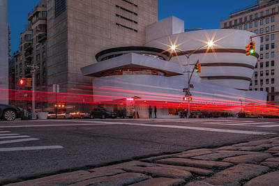 Poster featuring the photograph Guggenheim Museum Nyc  by Susan Candelario