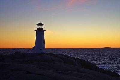 Peggy's Cove Lighthouse Poster by Heather Vopni
