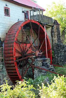 Guilford Mill Water Wheel Poster by Selena Wagner