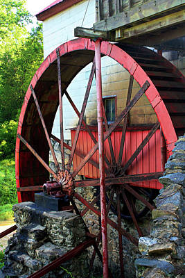 Guilford Mill Wheel Poster by Selena Wagner