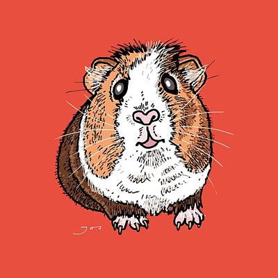 Guinea Pig Poster by Pets Portraits
