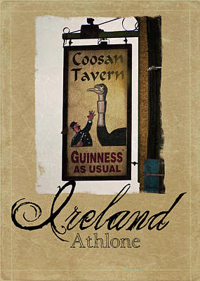 Guinness As Usual Athlone Ireland Poster by Teresa Mucha