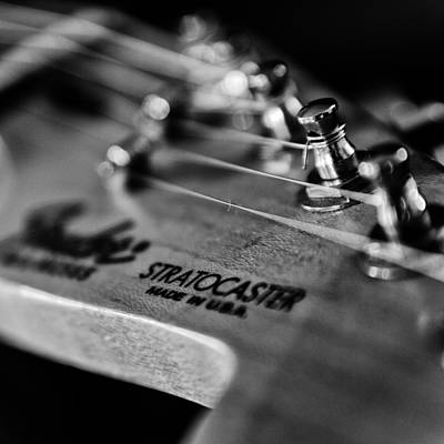 Guitar Close Up 3 Poster by Stelios Kleanthous