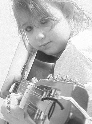Guitar Girl Poster