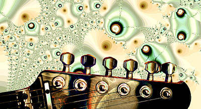 Guitar Head - Fantasy - Musical Instruments Poster by Anastasiya Malakhova