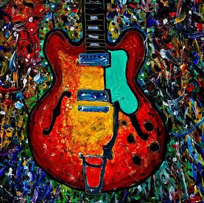Guitar Scene Poster