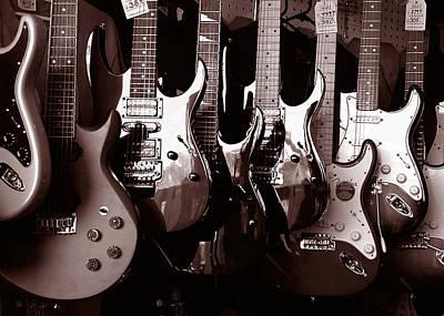 Guitar Shop Poster by David April