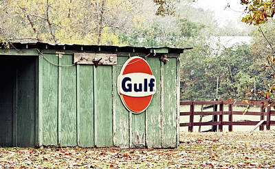 Gulf Oil Shed Poster