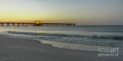 Gulf Shores Alabama Fishing Pier Digital Painting A82518 Poster