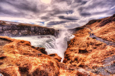 Gulfoss Waterfall Iceland 2nd Tier Poster
