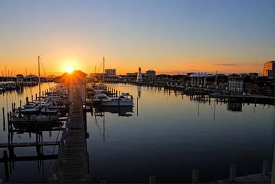 Gulfport Harbor Sunset Poster
