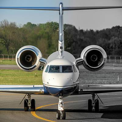 Gulfstream Aerospace G500 I-delo Frontal.nef Poster by Roberto Chiartano