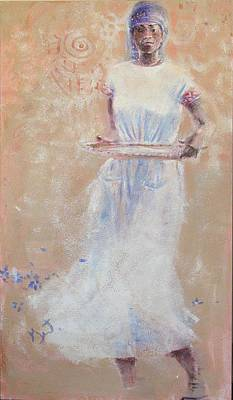 Poster featuring the painting Gullah Princess by Gertrude Palmer