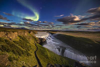 Gullfoss Iceland Poster by Gunnar Orn Arnason