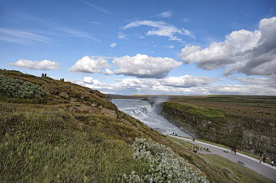 Gullfoss Waterfall Iceland I Poster by Marianne Campolongo