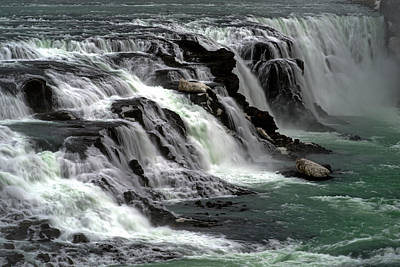 Poster featuring the photograph Gullfoss Waterfalls, Iceland by Dubi Roman