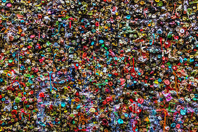 Gum Wall Poster by Garry Gay