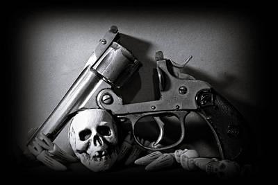 Gun And Skull Poster by Scott  Wyatt