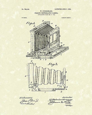 Gundermann Photographic Camera 1904 Patent Art Poster by Prior Art Design