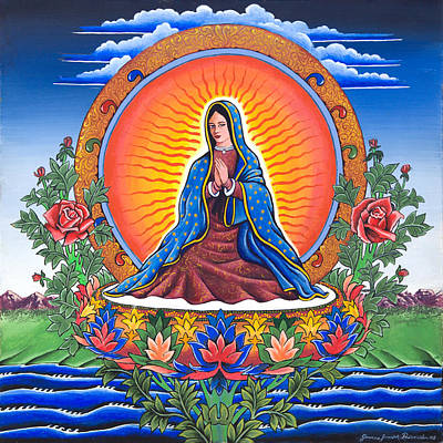 Guru Guadalupe Poster by James Roderick